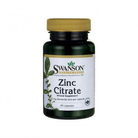SWANSON Zinc Citrate 50mg - 60caps